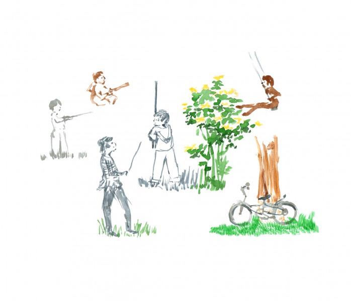 jardin et enfants